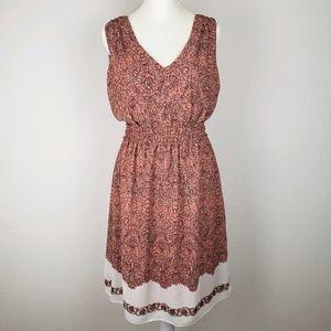 Max Studio sleeveless floral chiffon sun dress